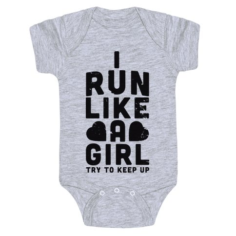 Womens I Run Like A Girl Try To Keep Up Funny Running
