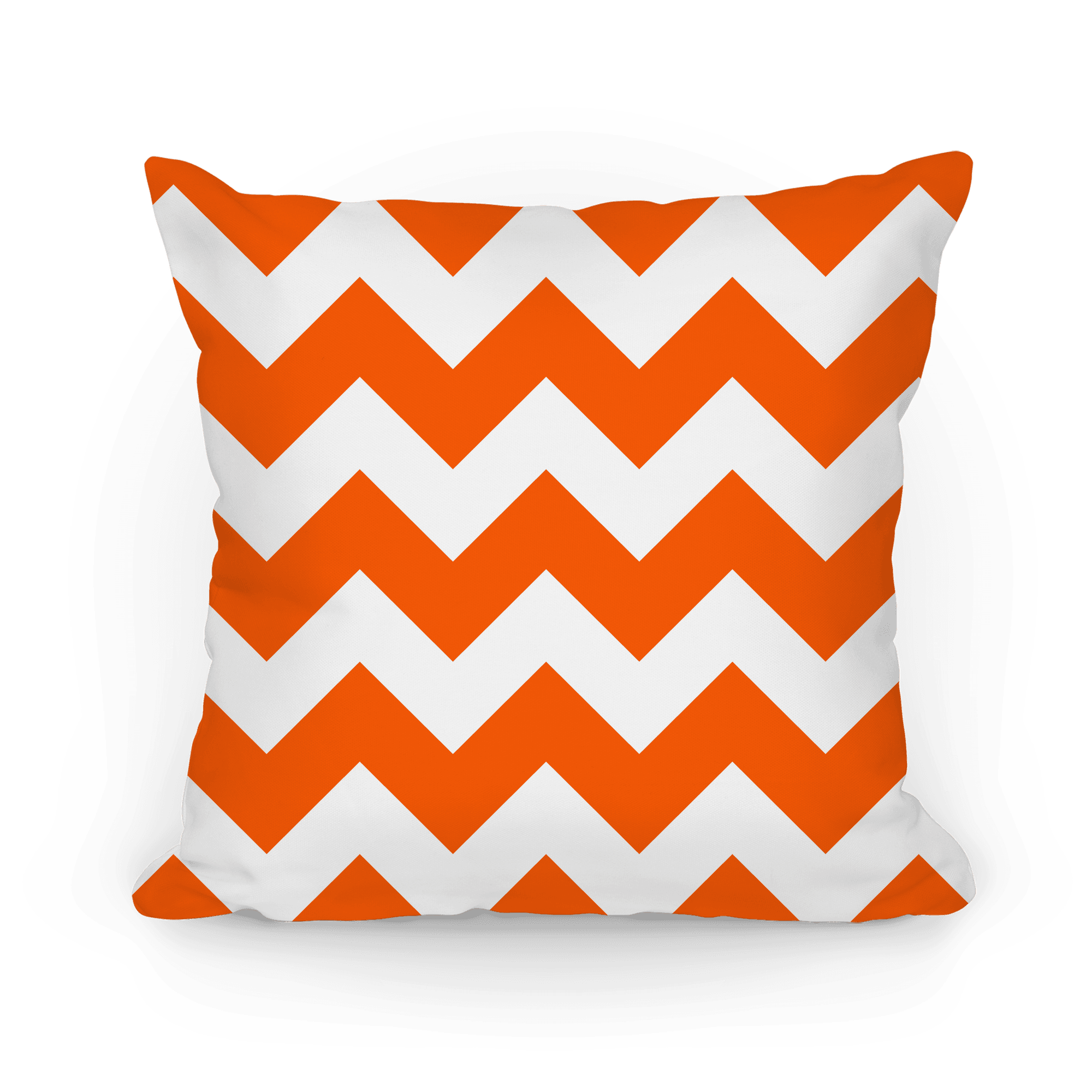 Chevron Pillow Tangerine Pillows Lookhuman
