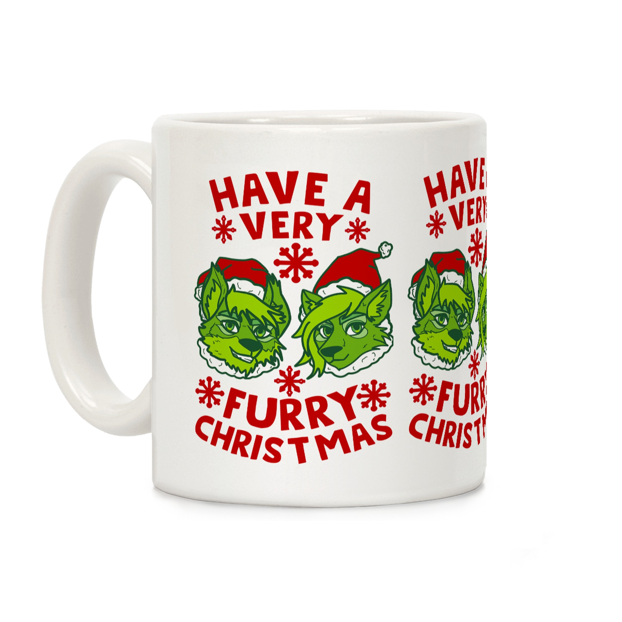 Have A Very Furry Christmas Coffee Mugs Lookhuman