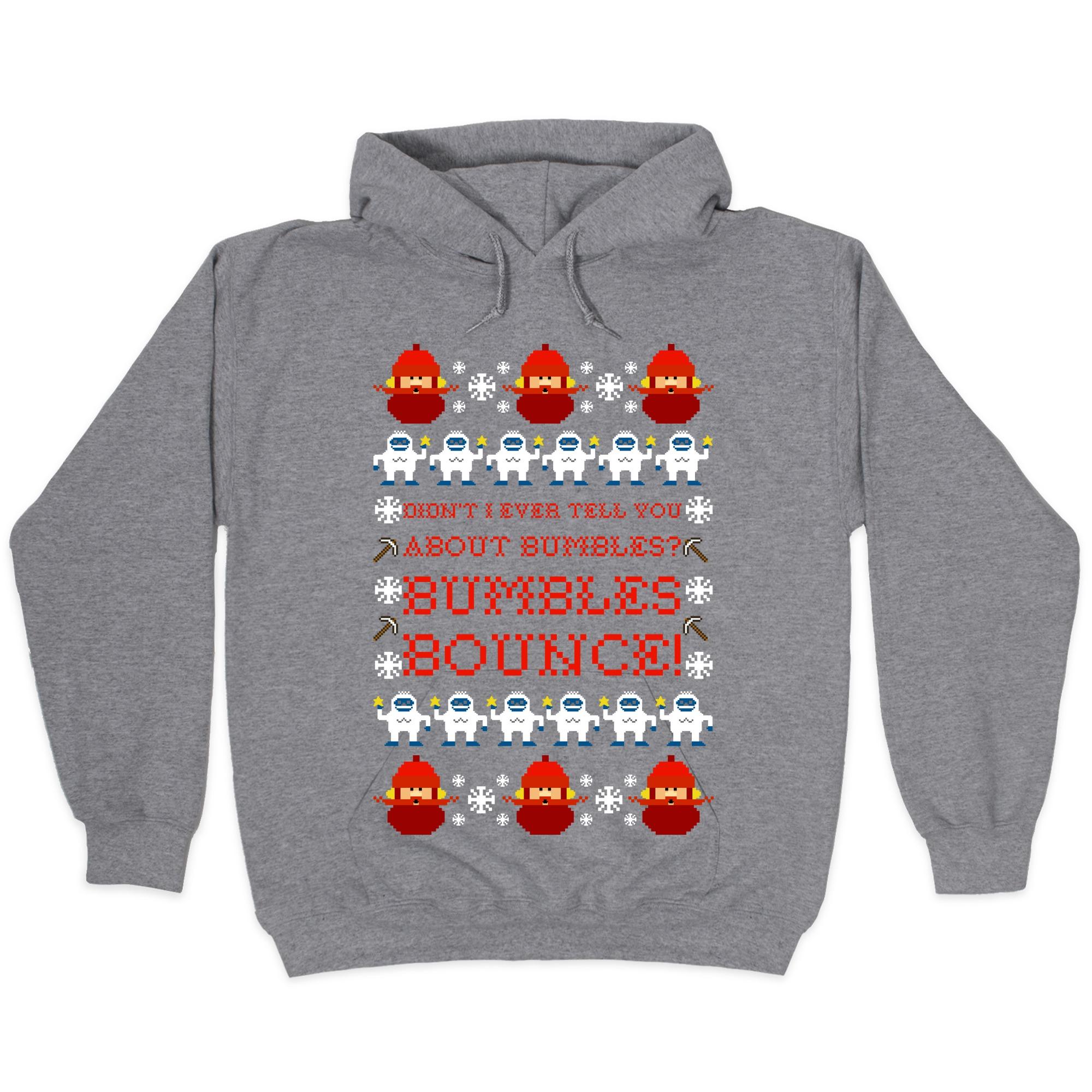 Yukon Cornelius And Bumble Ugly Sweater Hooded Sweatshirts Lookhuman