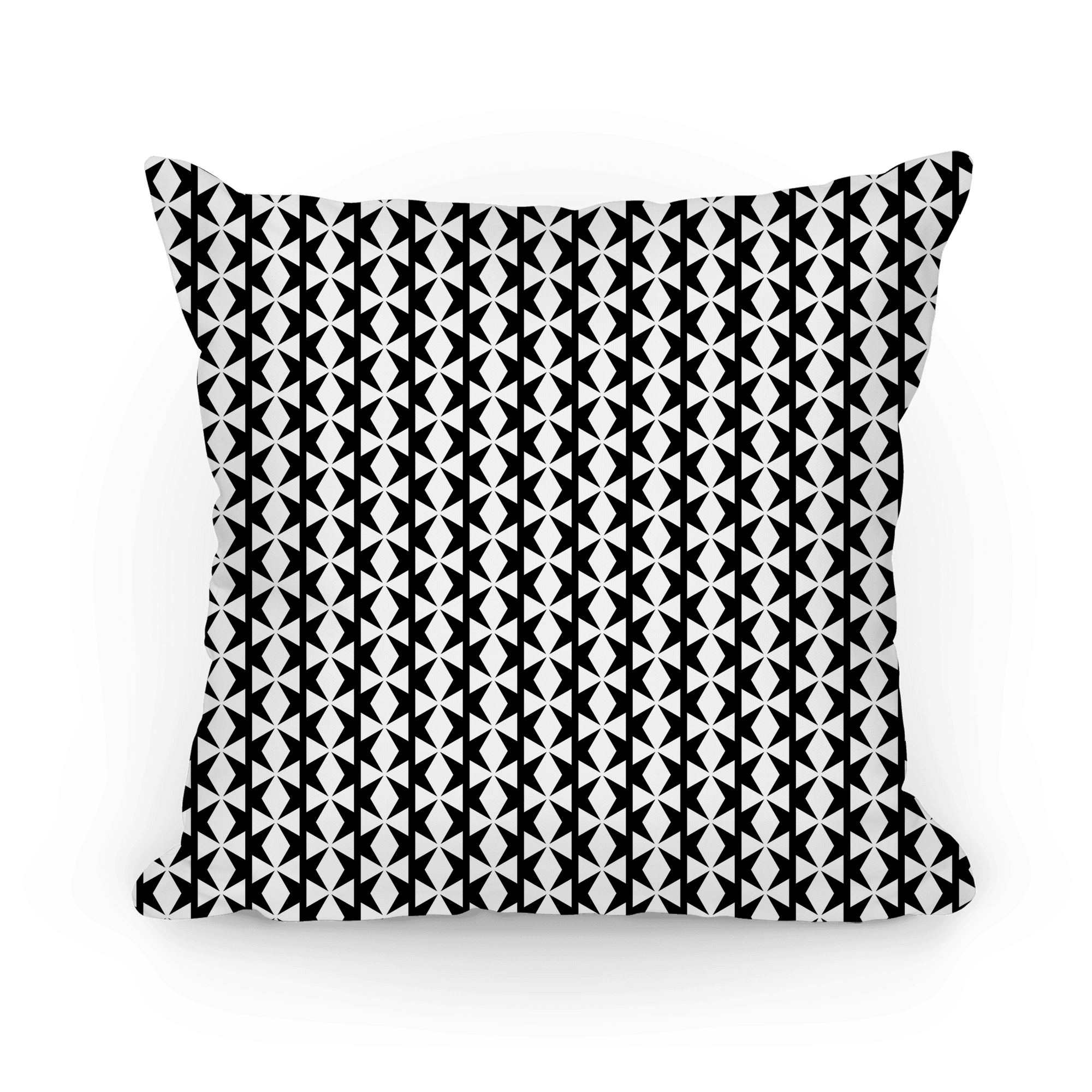 Black And White Geometric Pattern Pillows Lookhuman
