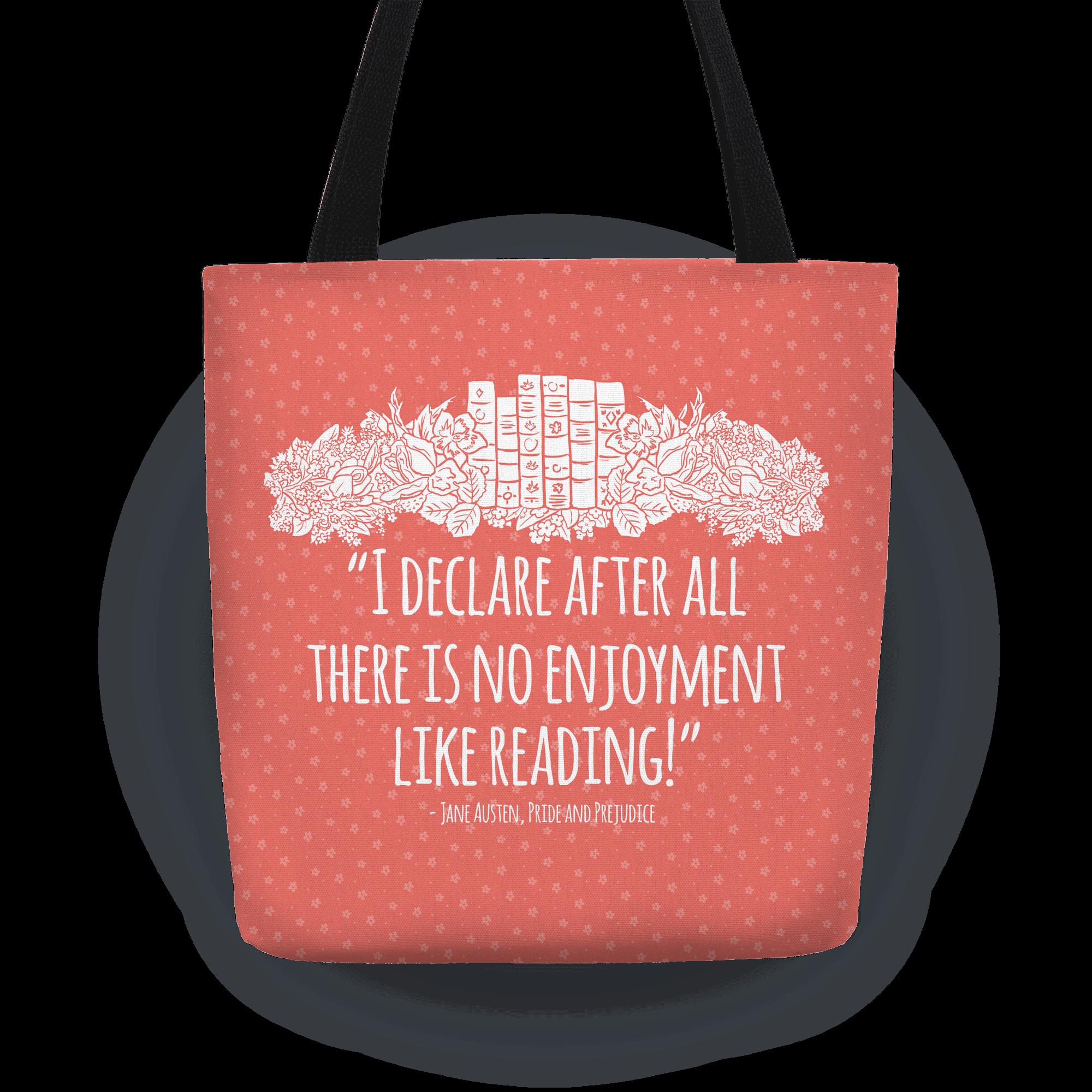 canvas handbag tote Jane Austen Tote Bag everyday large bag literary tote library quote grocery bag canvas Pride /& Prejudice shopper bag