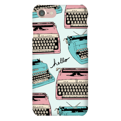 Typewriter Pattern Phone Case