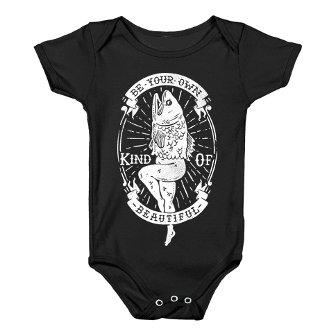 Be Your Own Kind Of Beautiful Reversed Mermaid Baby Onesy