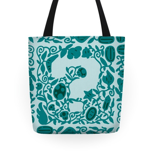 Floral Question Block Tote