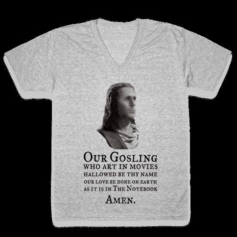 The Gosling Prayer V-Neck Tee Shirt