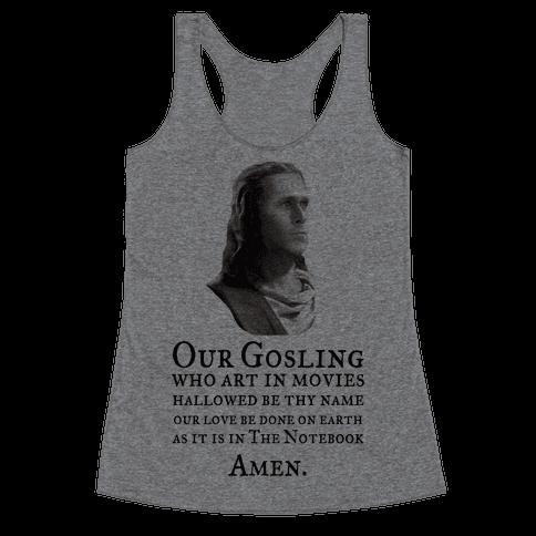 The Gosling Prayer Racerback Tank Top