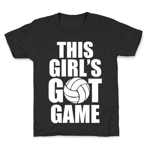 This Girl's Got Game (Volleyball) Kids T-Shirt