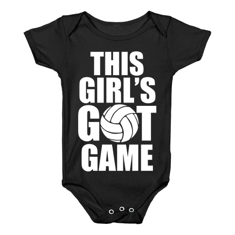This Girl's Got Game (Volleyball) Baby Onesy