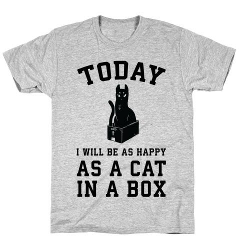 Today I Will Be As Happy As A Cat In A Box T-Shirt