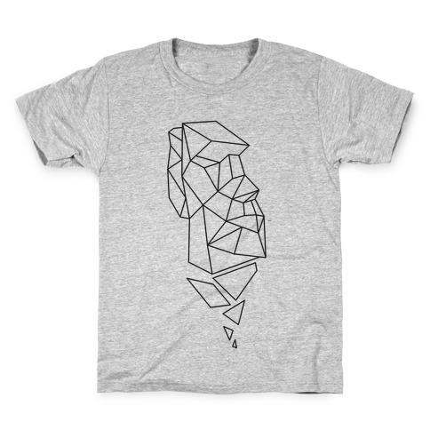 Fractal Moai Head Kids T-Shirt