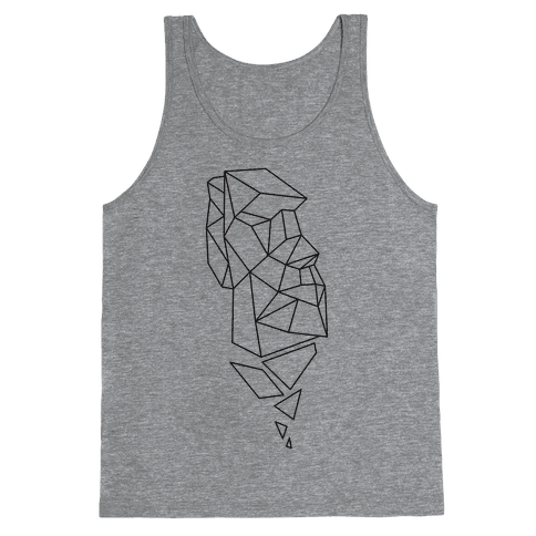 Fractal Moai Head Tank Top
