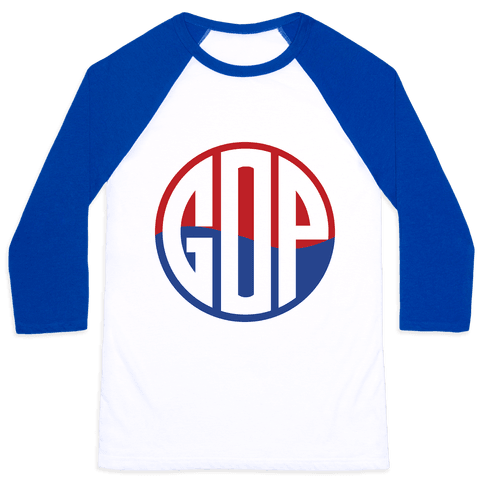 GOP Pop Emblem Baseball Tee