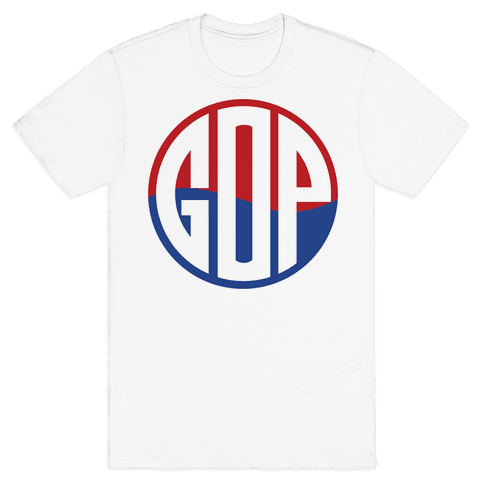GOP Pop Emblem Mens T-Shirt