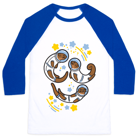 Otters In Space Baseball Tee