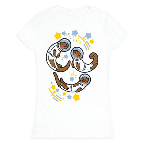 Otters In Space Womens T-Shirt