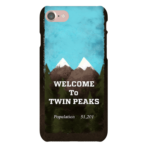 Twin Peaks Welcome Sign Phone Case