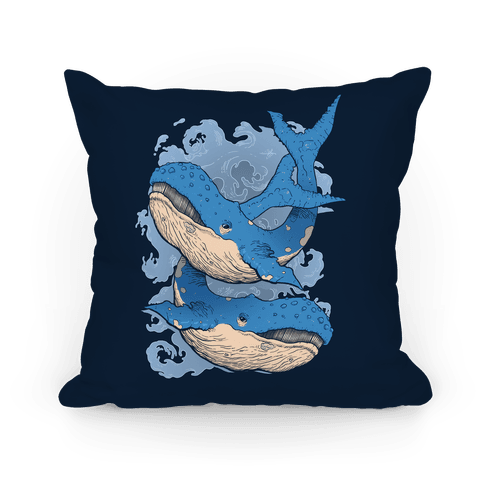 Humpback Whales Pillow