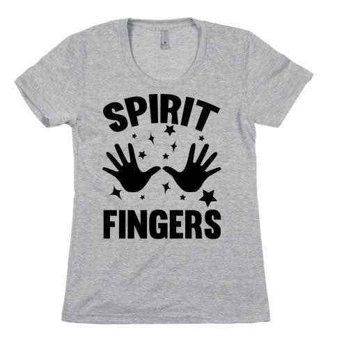 Spirit Fingers (Black) Womens T-Shirt