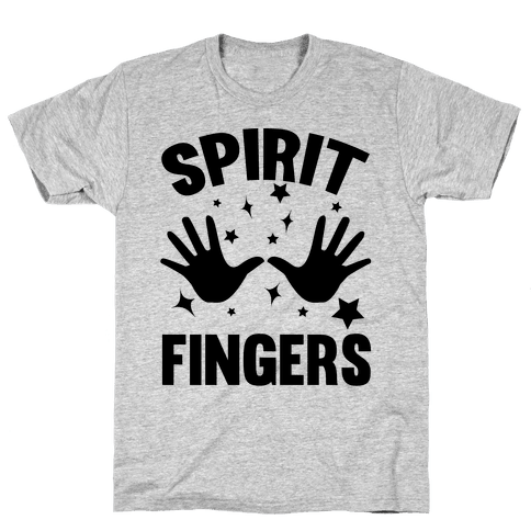Spirit Fingers (Black) Mens T-Shirt