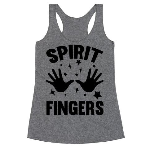 Spirit Fingers (Black) Racerback Tank Top