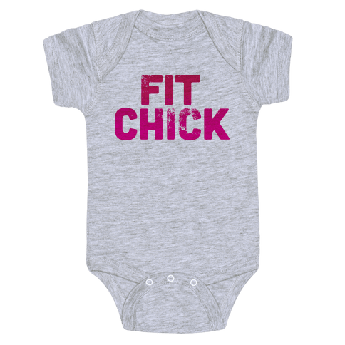 Fit Chick Baby Onesy