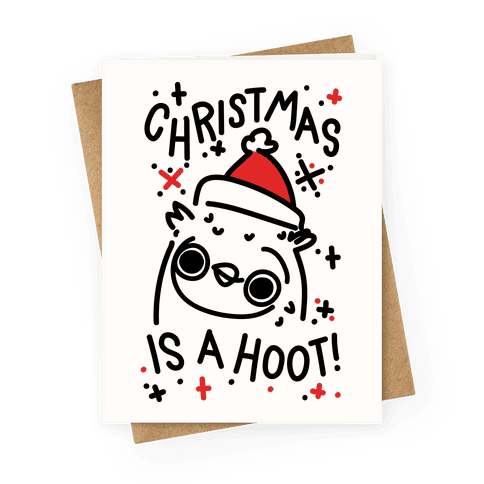 Christmas Is A Hoot Greeting Card
