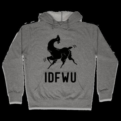 IDFWU Llama Hooded Sweatshirt