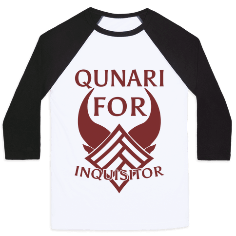 Qunari For Inquisitor Baseball Tee