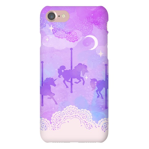 Pastel Carousel Unicorns Phone Case