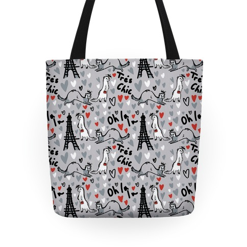 French Fashion Model Ferrets Tote