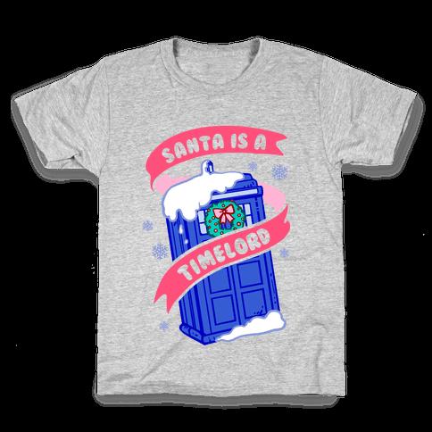 Santa is A Timelord Kids T-Shirt