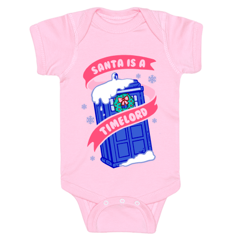 Santa is A Timelord Baby Onesy