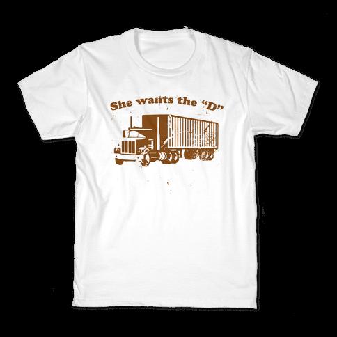 She Wants the D(iesel)  Kids T-Shirt