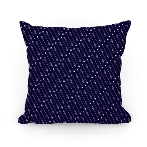 Navy Diagonal Arrow Pattern Pillow