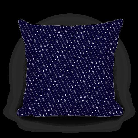 Navy Diagonal Arrow Pattern