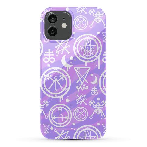 Pastel Goth Demon Sigil Pattern Phone Case