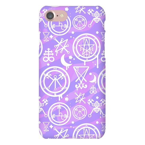 Pastel Goth Demon Sigil Pattern Phone Case