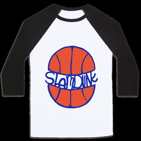 Basketball Slam Dunk Baseball Tee