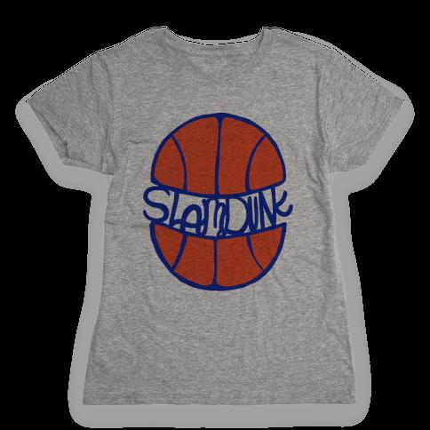 Basketball Slam Dunk Womens T-Shirt