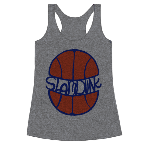 Basketball Slam Dunk Racerback Tank Top