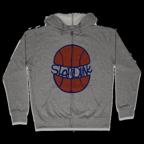 Basketball Slam Dunk Zip Hoodie