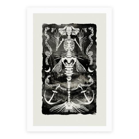 Dead Mermaid Poster Poster