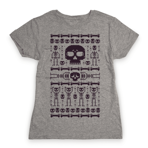 Ugly Skeleton Sweater Womens T-Shirt
