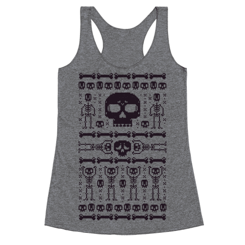 Ugly Skeleton Sweater Racerback Tank Top
