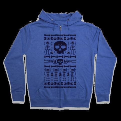 Ugly Skeleton Sweater Zip Hoodie