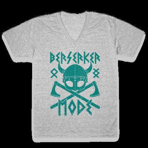 Berserker Mode V-Neck Tee Shirt