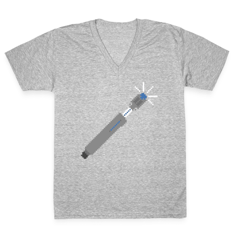 8 Bit Screwdriver V-Neck Tee Shirt