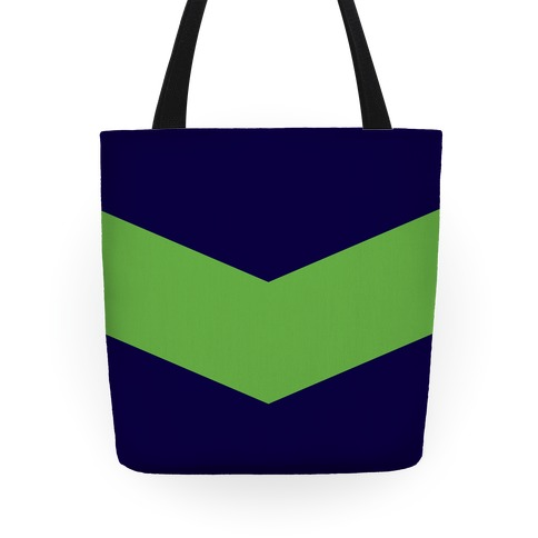 Green Chevron Stripe Tote Tote