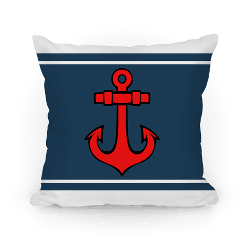 Anchors And Stripes Pillow